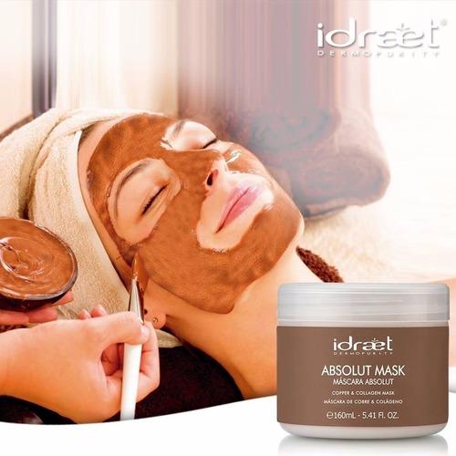 absolut mask mascara rejuvenecedora cobre & colageno idraet