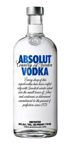 absolut vodka blue (40°) - 750cc