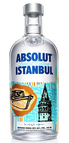 absolut vodka istambul vacia de coleccion polakom extract