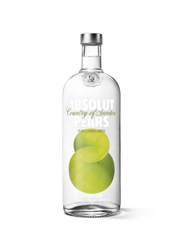 absolut vodka pears sueca - 1l