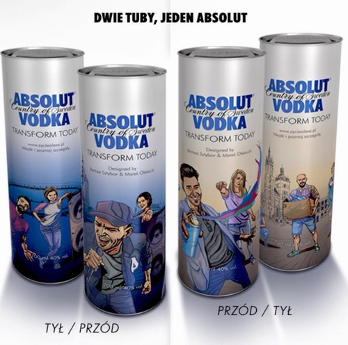absolut vodka set de 2 tubos edic limitada polonia mix korea