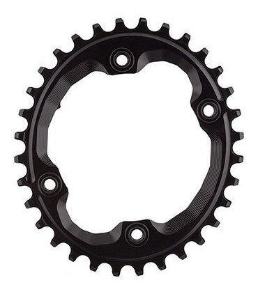 absolute black shimano oval traction chainring black/96 bcd