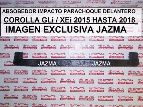 absorbedor impacto parachoque del corolla 2015 2018 original