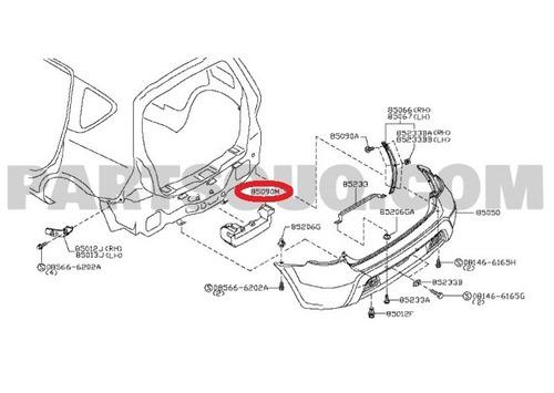 absorvedor impacto p/choque traseiro livina 2008 original