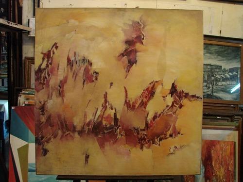 abstracto / anonimo / oleo sobre lienzo 100 x 100  # 1406