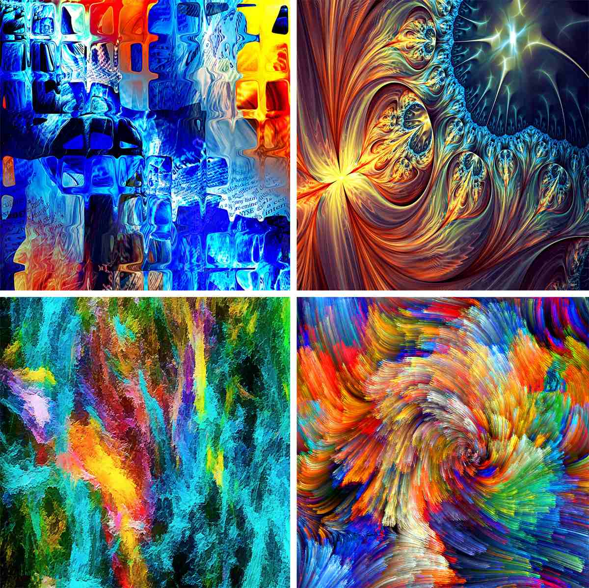 Abstractos lienzo lienzograf as 60x90 cuadros impresi n - Cuadros colores vivos ...