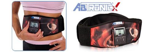 abtronic x2 original cinturon + gel reductor mini faja vmx