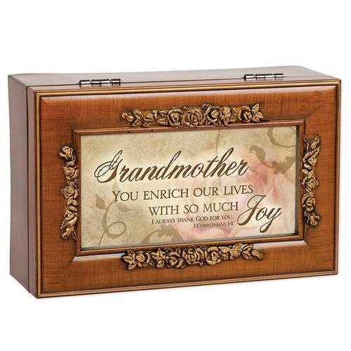 abuela inspirada decorativo viruta rose caja de música - rep