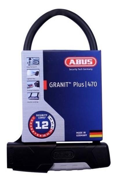 Abus 470//300 Granit Plus USH Halter Candado Negro Talla /única