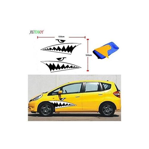 aby cool shark boca dientes ho auto reflectante auto body de