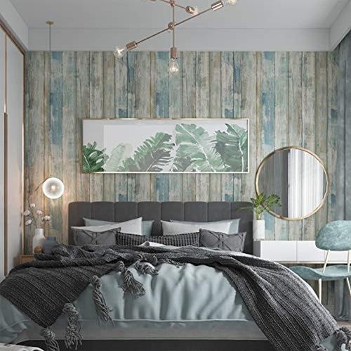 abyssaly - papel tapiz autoadhesivo de madera despegable