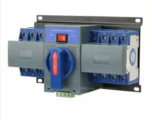 ac 110v 4p / 63a interruptor de transferencia automática de