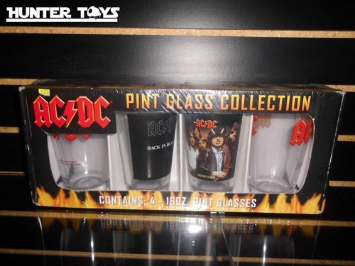ac dc hermosos vasos , de vidrio, nuevos, tel. 35846340