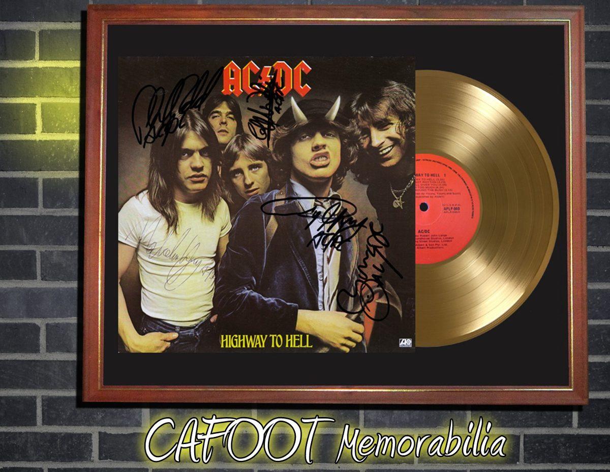 Ac Dc Highway To Hell Tapa Lp Firmada Disco Oro En Cuadro - $ 599,00 ...