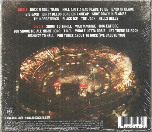 ac dc - live at river plate 2 cds nuevo sellado precio real