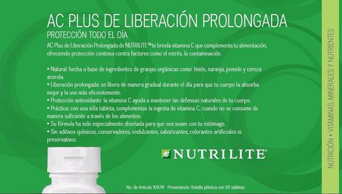 ac plus vitamina c nutrilite x 60tab -20% descuento