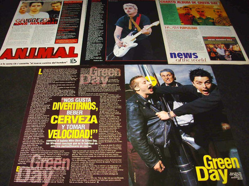 (ac014) green day * recortes revistas clippings
