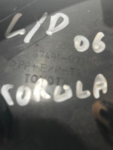acabamento interno retrovisor toyota corola 2006 l/doriginal