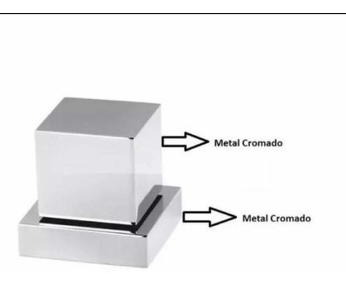 acabamento p/ registro quadrado 1/2 - 3/4 padrão deca