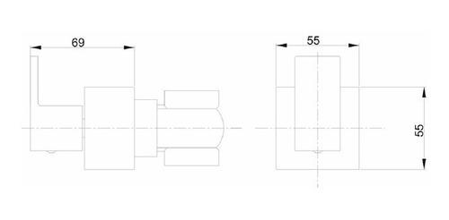 acabamento quadrado p/ registro deca preto fosco black matte