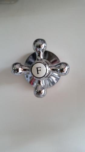 acabamento registro c-33 metal cromado (botão luxo) 3/4