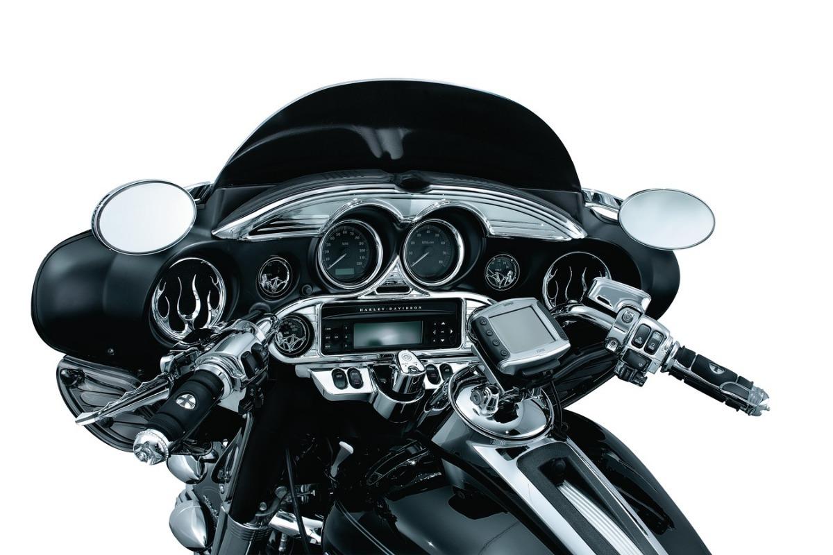 Para-brisas Krator Preta Acabamento Accent 1996-2013 Harley Davidson Motorcycles