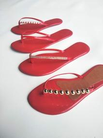167f9dc173 Sandalias Direto Da Fabrica Nova Serrana - Sapatos para Feminino Vermelho  no Mercado Livre Brasil