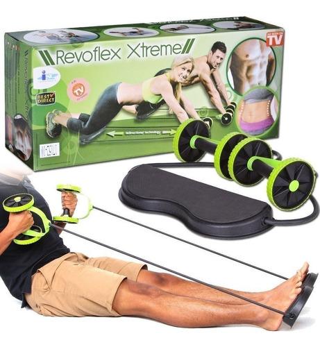 academia em casa revoflex xtreme aparelho abdominal portati