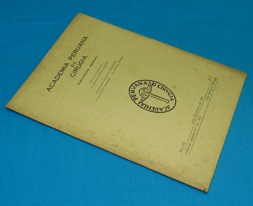 academia peruana cirugía 1955 vascular aneurismas medicina