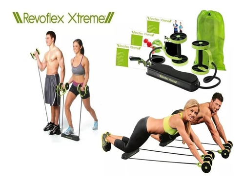 academia portatil fit revoflex xtreme bracos pernas abdomen