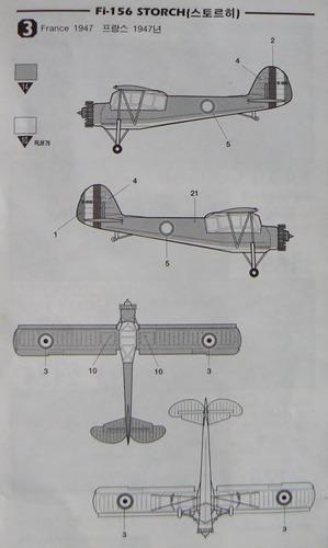 academy 1/72 fieseler fi-156 storch / ms-502 criquet