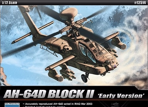 academy - helicoptero ah-64d block ii - early version
