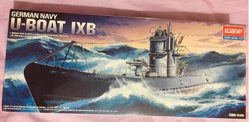 academy  submarino u-boat ix b motorizado 1/150