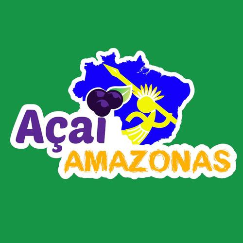açai amazonas 2 potes x 1 kg c/u, 1 comun y 1 zero azucar
