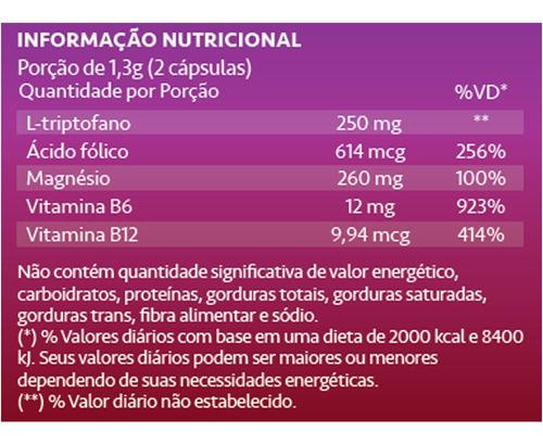 acalentus l triptofano 60 cápsulas de 250mg maxinutri
