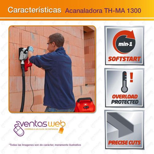 acanaladora de muros einhell 1300w + aspiradora industrial