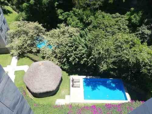 acapantzingo departamento con vig, 2 alb, palapa, jardines