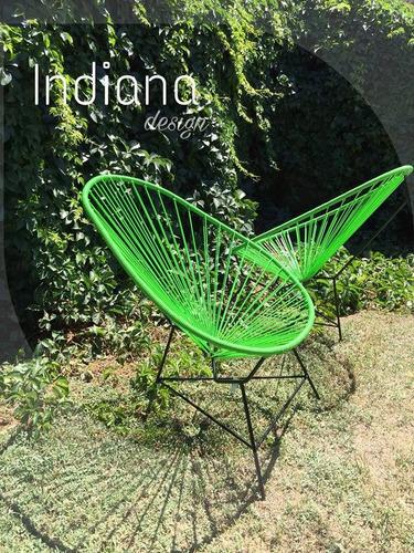 acapulco combo sillas + mesa ratona muebles de jardin