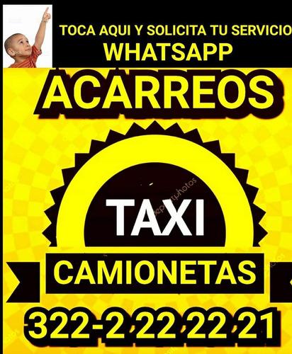 acarreos taxicamionetas tan facil como pedir un taxi