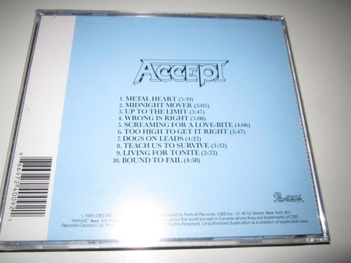 accept - metal heart cd (importado)
