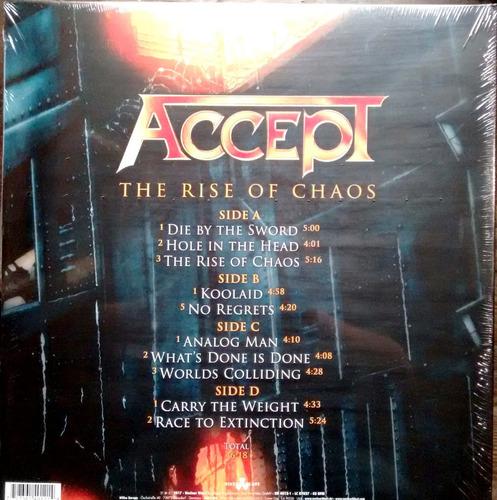 accept - the rise of chaos - vinilo doble nuevo