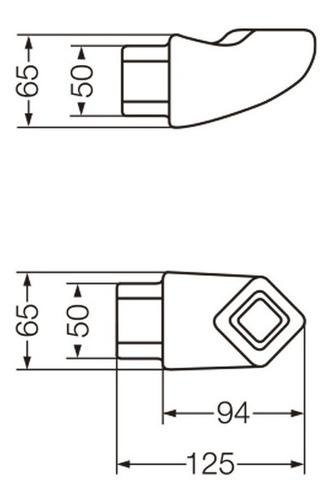 acces. baño clasicos portatoalla de embutir ats1u/b ferrum