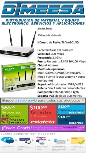 acces point  tl-wa901nd dimeesa