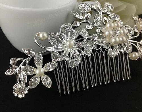 accesorio adorno peineta hebilla tocado para cabello novias