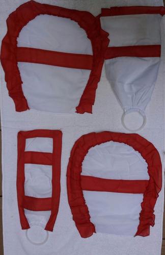 accesorio baño cubre bidet inodoro + prta rollo + algodonera