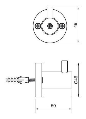 accesorio baño fv percha arizona 166/b1 cromo