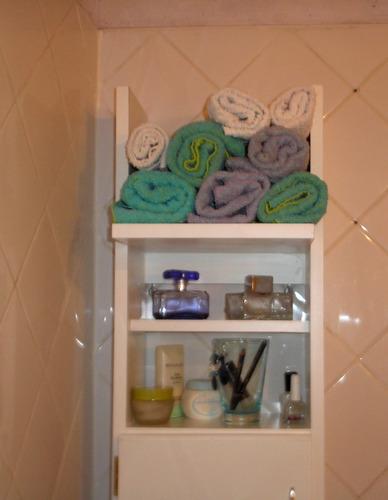 accesorio botiquin vanitory, baño mueble toallero melamina