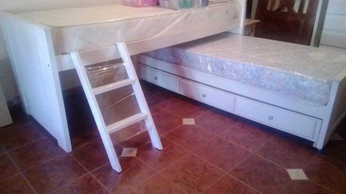 Escaleras Para Camas Altas Good Cama Alta Con Sofa With Escaleras  ~ Escaleras Infantiles Para Camas Altas