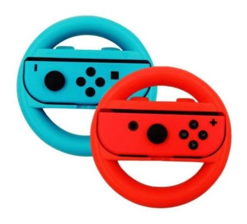 accesorio consola nintendo switch joy con rueda neon mario bros kart