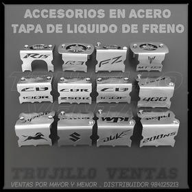 Accesorio De Acero Tapa Liquido Freno Ns Cb Apache R3 Mt @tv